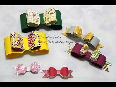 Fiocchi di carta fai da te con Envelope punch board - Paper bow Tutorial - Packaging tutorial - YouTube