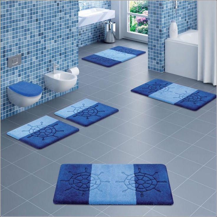 Best Bathroom Rug Sets Ideas On Pinterest Skull Decor - Blue green bathroom rugs for bathroom decorating ideas