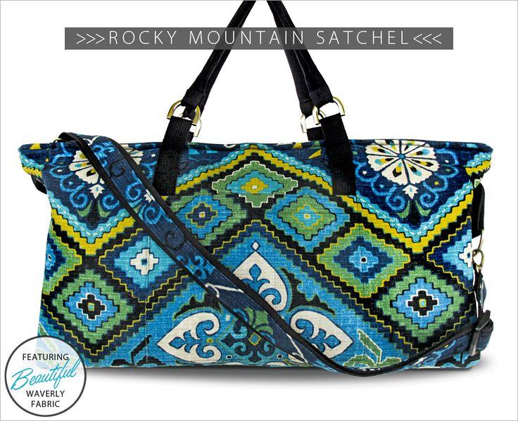 Rocky Mountain Satchel: Waverly World   Sew4Home