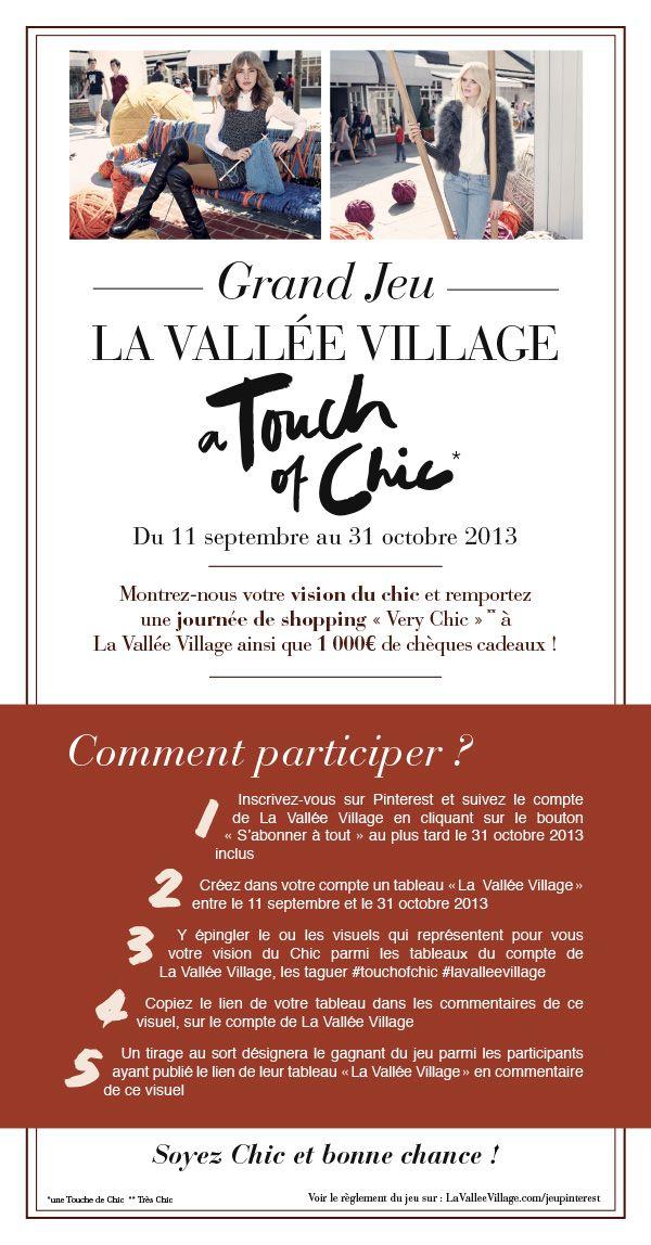 Tentez de #gagner une #journeeshoppingVIP comprenant un aller-retour du centre de #Paris à #LaValleeVillage en voiture avec #chauffeur pour deux personnes, une #visiteprivee pour deux de la #galeriedart du Village, un #dejeuner pour deux personnes au sein de l' #espaceVIP du Village et 1 000€ de #chequescadeaux #LaValleeVillage.