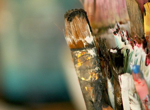 Messy PaintbrushesPainting Brushes And, Creative Kickstart, Artists Tools, Artists Materials, Paint Brushes, Artists Toolbox, Art Supplies, Photography Inspiration, Messy Paintbrush