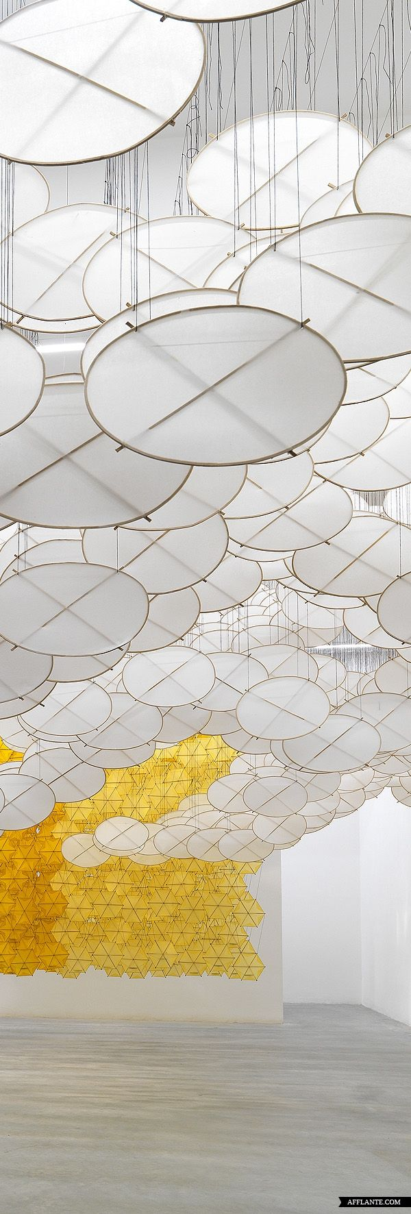 Jacob Hashimoto The Other Sun installation at the Ronchini Gallery 2012