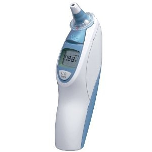 #1: Braun Thermoscan Ear Thermometer with ExacTemp Technology.