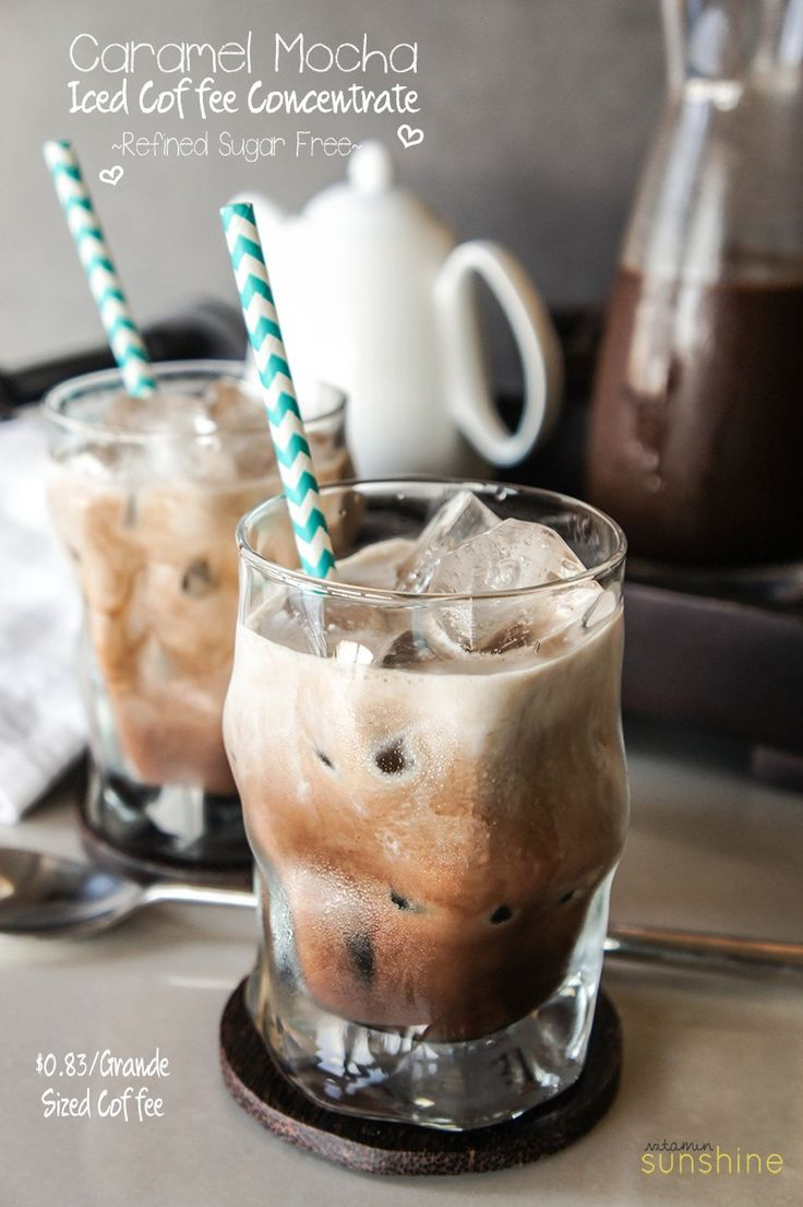 Iced Caramel Mocha Recipe - make your coffee healthier, and save $$ at the…