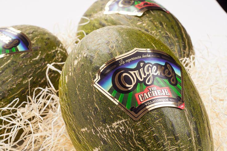diseño de etiqueta de melón Premium