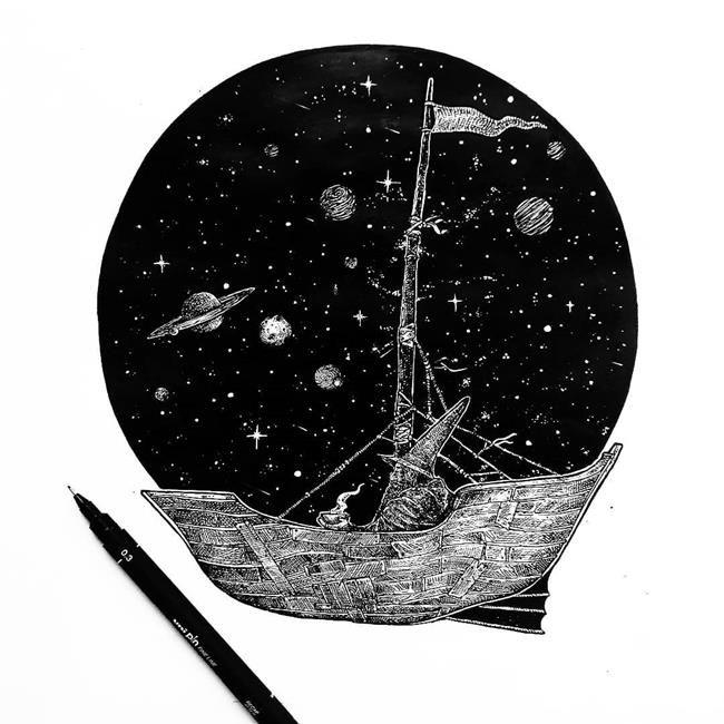 Siyah Beyaz Çizimleri ile Varoluşu Anlatan Ezekiel Moura'dan 20+ İllüstrasyon Sanatlı Bi Blog 37