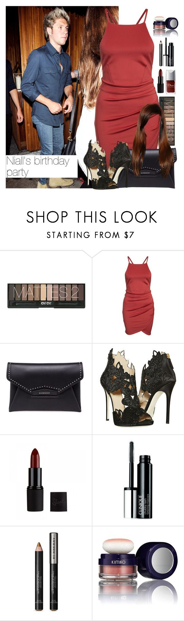 """""""・ Niall's birthday party ・"""" by zaynismybaex ❤ liked on Polyvore featuring Givenchy, La Perla, Clinique, Burberry and Kimiko"""