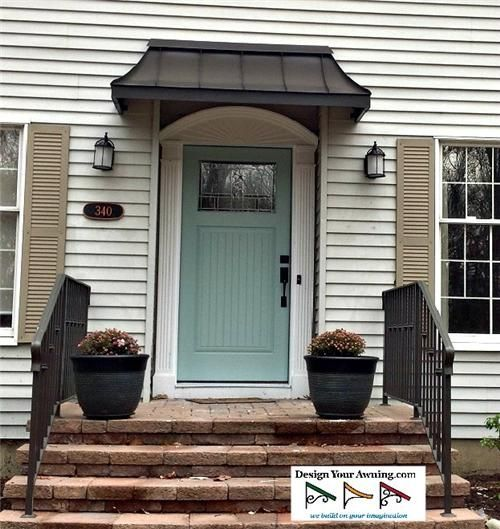 images for front door awnings | awning over front door in zionsville in bronze 4 front