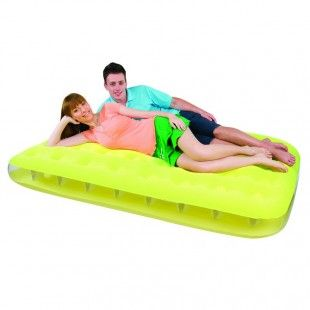 Matelas gonflable 2 places Bestway fashion jaune 191 x 137 x 22 cm