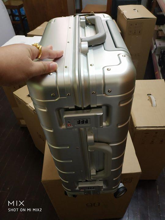 Unboxing.... Mi Aluminium Suitcase  Price: 225,000 Kyats  SweetConnect Shopping Town   09-91008787, 09-977656466,09-951043120 #femalegears.com #random #lovethese #shopping #women #female