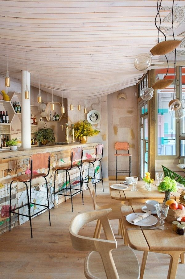 Mama campo restaurant eclectic design with decors and for Appartement deco bistrot