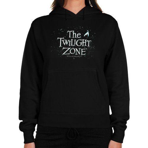Twilight Zone Ladies Space Logo Midweight Pullover Hoodie - Black Football Fanatics. $45.95