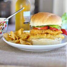 Cornmeal Crusted Cod Sandwich with Old Bay Tartar Sauce
