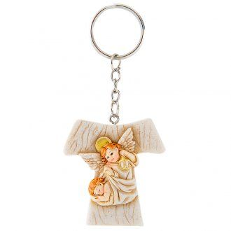 Key Ring Tau Angels 4cm | online sales on HOLYART.co.uk