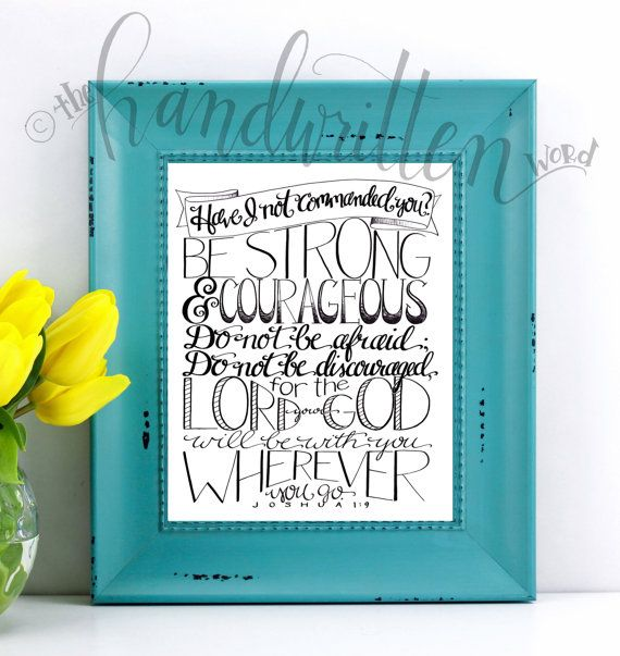 Bible Verse Wall Art / Christian Gifts for Women / by SaltySunbeam
