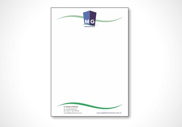 Diseño de hojas membretadas para empresa Admnistradora de Edificios y Consorcios.