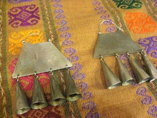 Vintage Araucano-Mapuche Indian Tribal Earrings. $125.00, via Etsy.