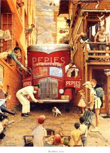[9]When there's trouble in our town, we all pitch in to help!    Van Stuck in Alley. Norman Rockwell.  http://maryemartintrilogies.com/?p=7297 #American #art