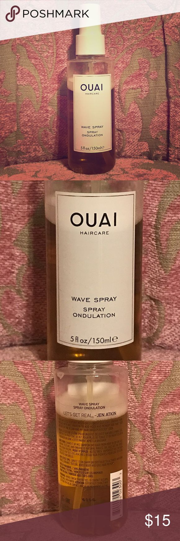 Ouai Wave Spray Gently used, but my hair loves another type of salt spray 💝 Don't miss out on this awesome cult favorite!! ouai Accessories Hair Accessories