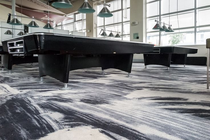 Location: Bowlingcenter Let's Play, Germany. Carpet design: Industrial Landscape by Tom Dixon and ege carpets.