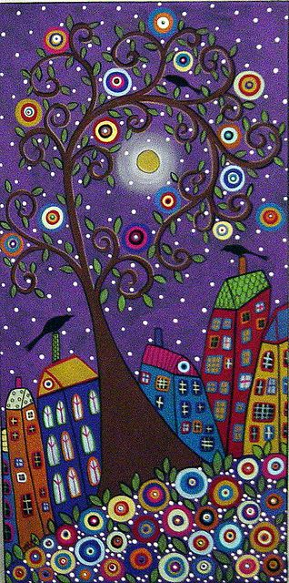 Purple Sky Landscape Painting by Karla G | Flickr - Photo Sharing!