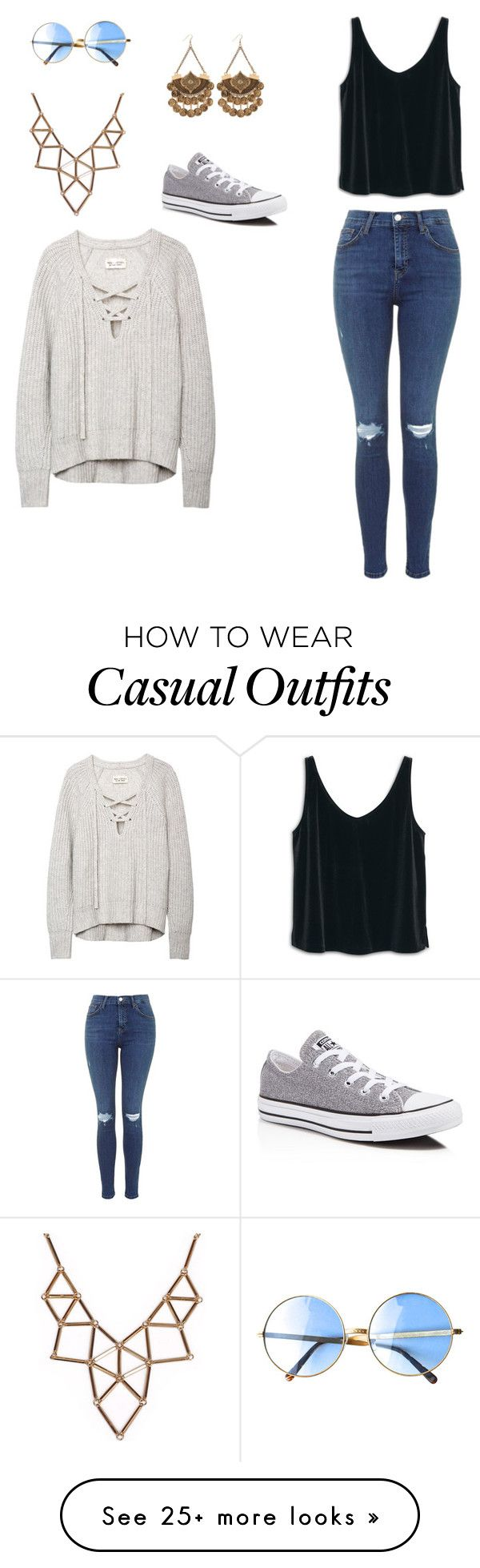 """Casual"" by isabelle108 on Polyvore featuring MANGO, Chicnova Fashion and…"