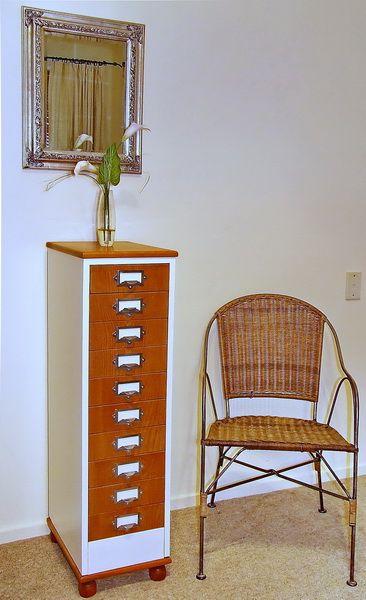 Metal Cabinet Wood Drawers By Rick Rubens Recreations
