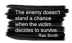 I'm not a victim anymore! I am an overcomer.I am more than a conqueror through Christ