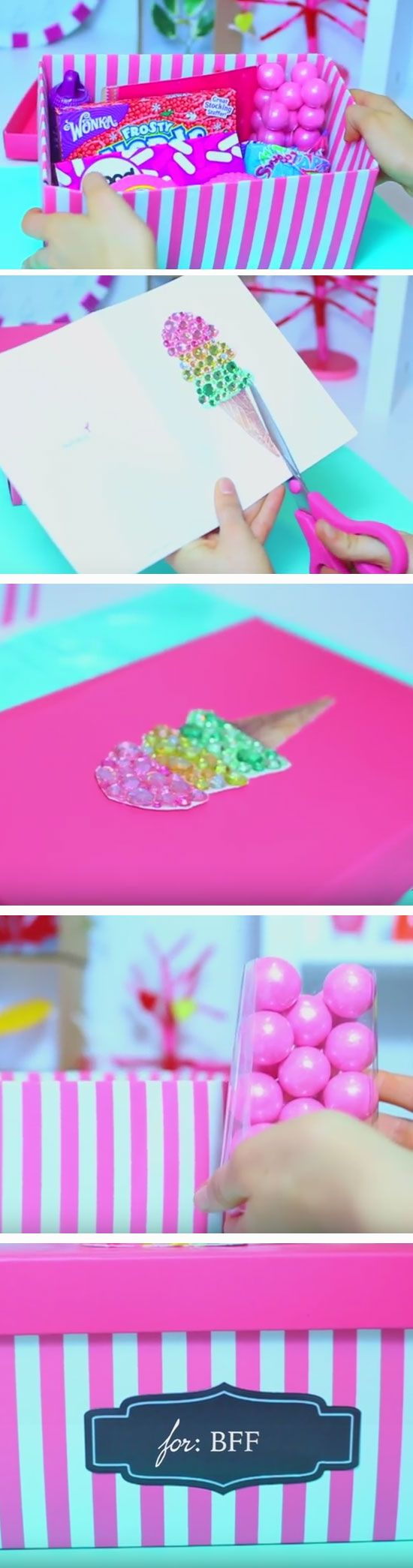 Cute Candy Box | 35 + DIY Christmas Gifts for Teen Girls