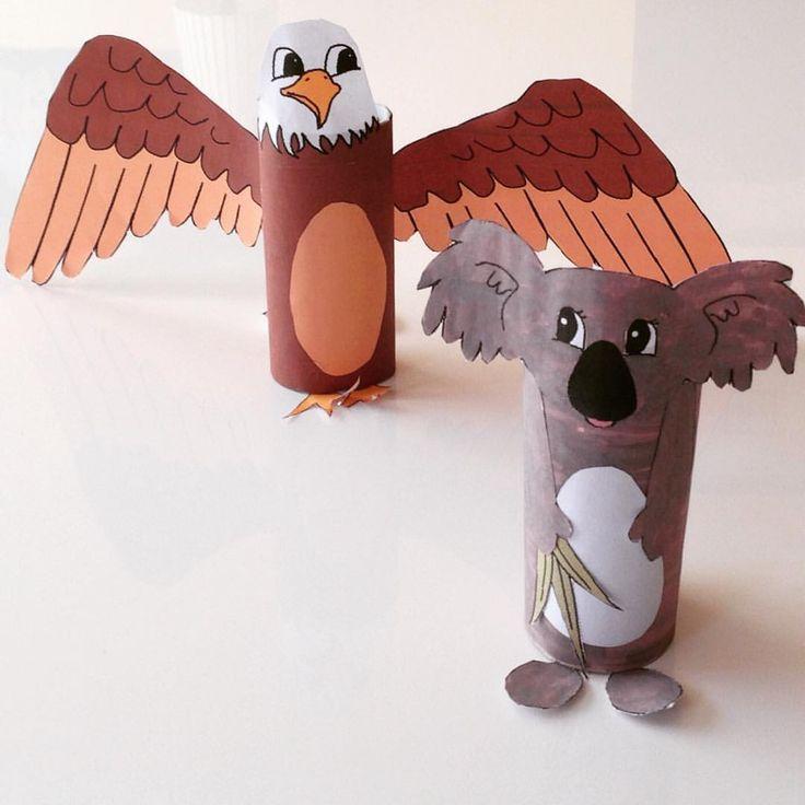 bricolage en rouleau de pq aigle et koala bricolages en. Black Bedroom Furniture Sets. Home Design Ideas