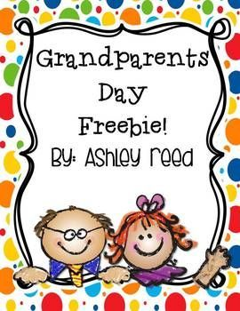 """Grandparents Day is September 13!! Here is a fun freebie inspired by something I saw on Pinterest (but couldn't find the link/source for!). It includes a poem to attach to students' handprint plus a """"Top 10 Reasons I love my grandparents"""" page. Please leave feedback! :). Download at: https://www.teacherspayteachers.com/Product/Grandparents-Day-Freebie-861998"""