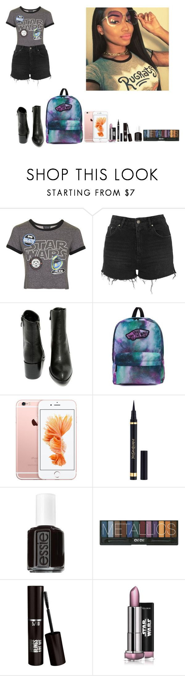 """""""Star Wars Launch Bay -"""" by krissyk-15 on Polyvore featuring Topshop, Very Volatile, Vans, Yves Saint Laurent and Essie"""