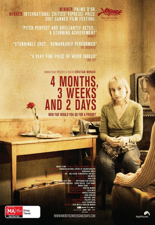 4 luni, 3 saptamâni si 2 zile | 4 Months, 3 Weeks and 2 Days (2007) - by Cristian Mungiu