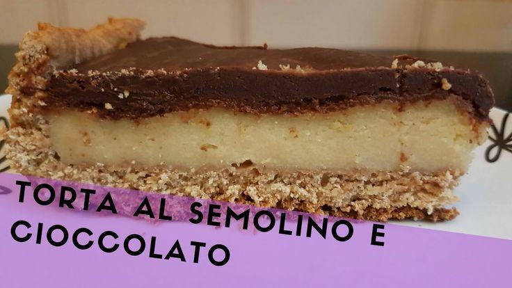 TORTA AL SEMOLINO E CIOCCOLATO - VEGAN-