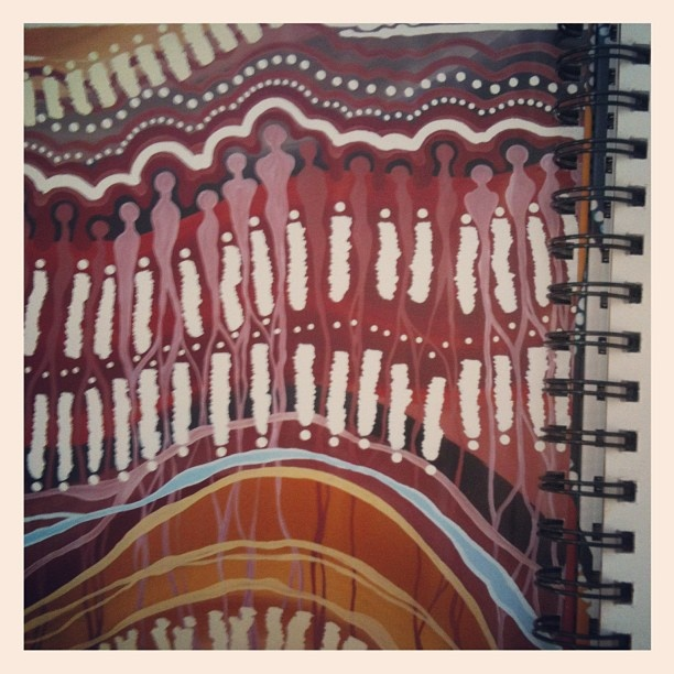 One of my favourite artworks from the 2013 Magabala Australian Indigenous Diary