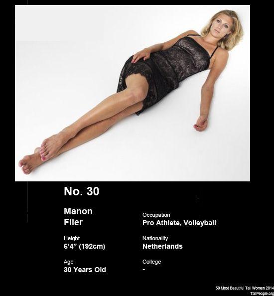 Manon Flier (6'4″) | Tall women / femmes grandes ...