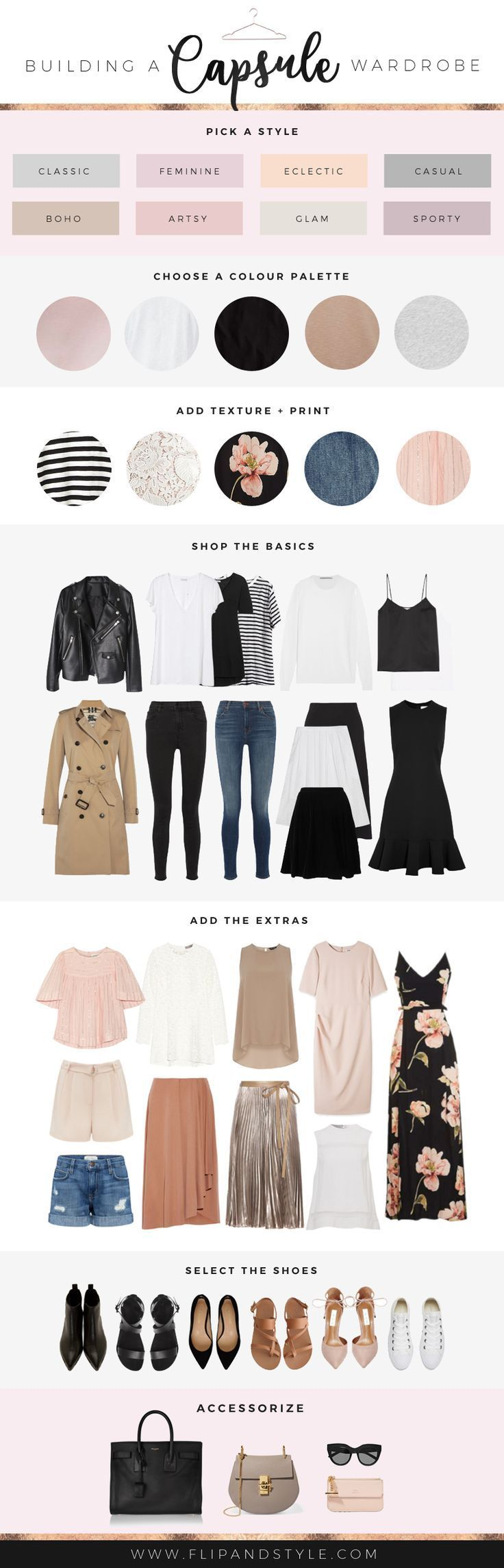 How to build a capsule wardrobe | Style essentials, outfits and staples that will last! | http://www.flipandstyle.com