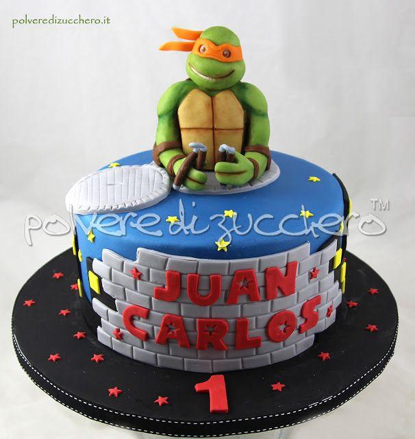 Tartarughe ninja la torta in pasta di zucchero Cake Ninja Turtles: Michelangelo