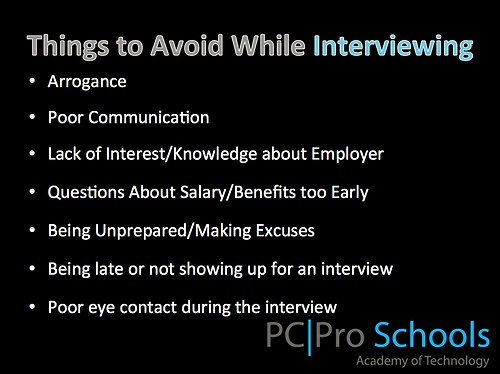 PC Pro Schools   Career Services · Interview AdviceJob InterviewsCareer  AdviceInterviewing TipsProfessional DevelopmentDream JobWorking HardSocial  ...