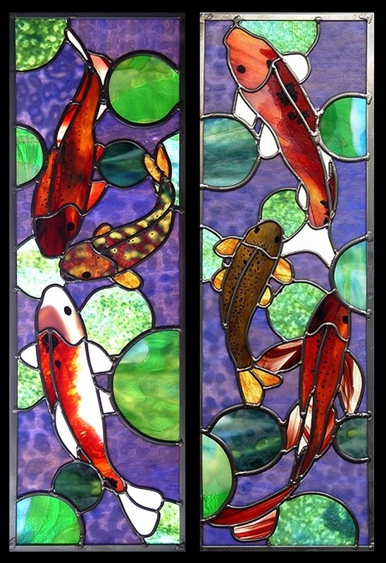 17 Best Images About Koi Stained Glass On Pinterest