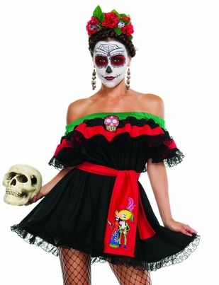 Day Of The Dead Sexy Costumes, Sexy Halloween Costumes, Sexy Mexican Halloween Costumes, Adult Sexy Costumes
