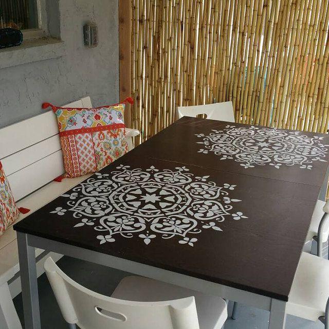 62 besten stencilslab customer reviews bilder auf pinterest boden schablone schablonen f r. Black Bedroom Furniture Sets. Home Design Ideas
