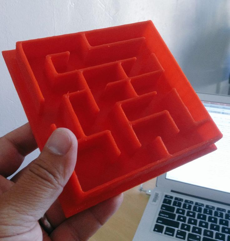 Here is the final #3Dprinted marble maze.