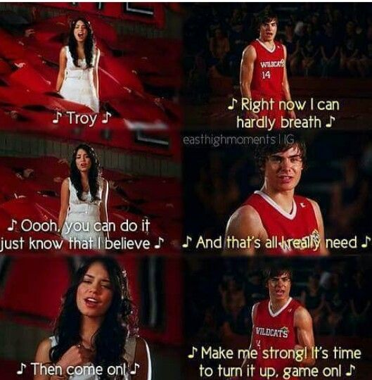 Zac Efron as Troy Bolton and Vanessa Hudgens as Gabriella Montez #HighSchoolMusical