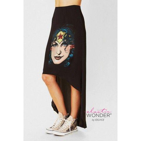 Wonder Woman Hi Low Hem Skirt on framestr.com