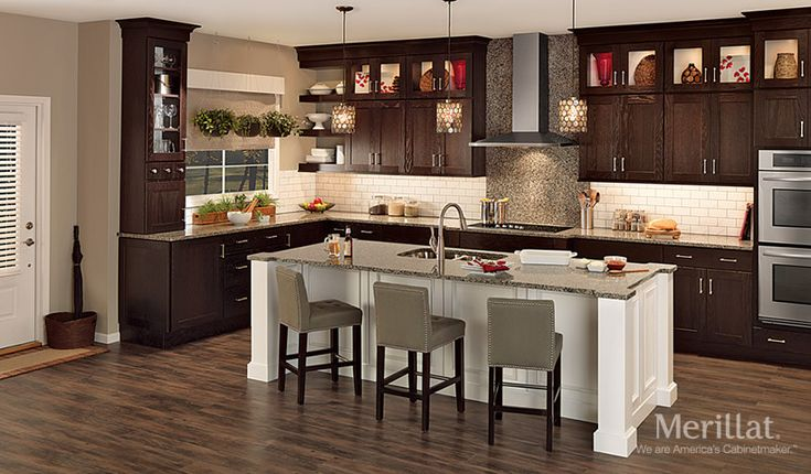 Merillat classic tolani in oak kona merillat cabinetry for Merillat kitchen cabinets