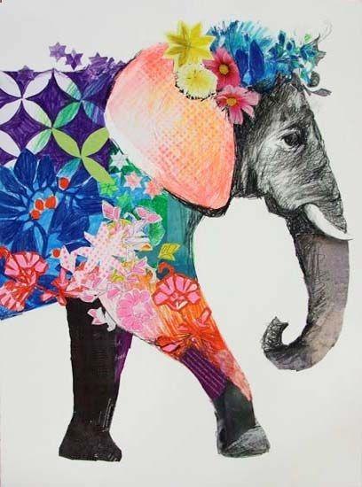 ...colorful elephant....