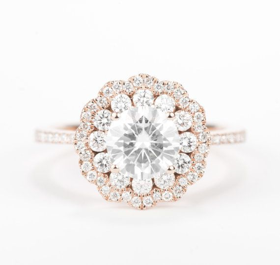 Forgot cookie cutter engagement rings and the same old diamond solitaire. I  have rounded up the most unique engagement rings; from some of the best  indie designers and jewelers in the business.   1. Nixin baguette diamond engagement ring ($2,495) - I have a thing for  baguette diamonds (in my