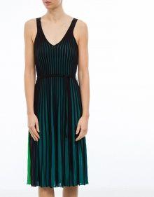 Vestido plisado punto bicolor KENZO --- Colección Primavera/Verano 2017