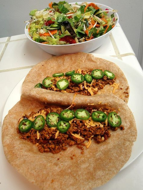 TVP Tacos - Textured Vegetable Protein Recipe for Taco Filling - Funkinutt McFly's Vegan Food Blog